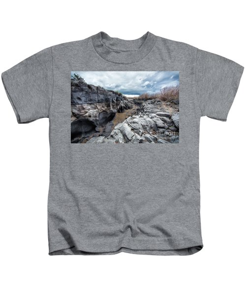 Flowing To The Storm Idaho Journey Landscape Art By Kaylyn Franks Kids T-Shirt