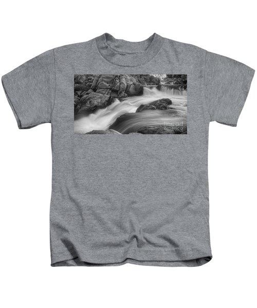 Flowing Waters At Kern River, California Kids T-Shirt