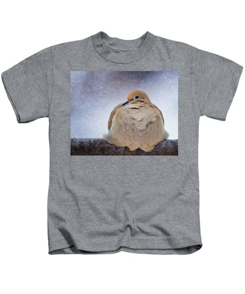 Fluffy Mourning Dove Kids T-Shirt