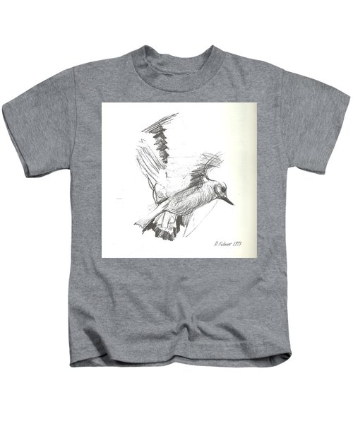 Flying Bird Sketch Kids T-Shirt