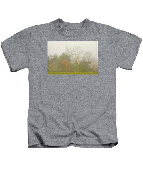 Fog In Autumn Kids T-Shirt
