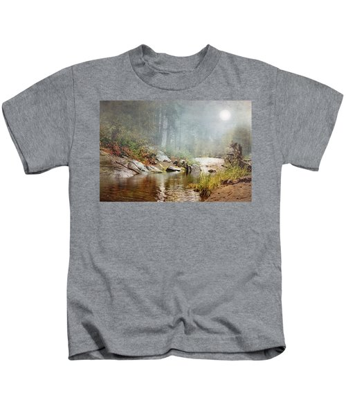 Foggy Fishin Hole Kids T-Shirt