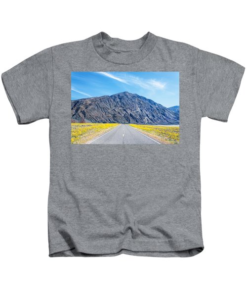 Follow The Yellow Lined Road Kids T-Shirt