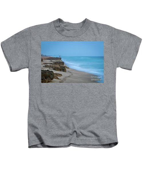 Footprints And Rocks Kids T-Shirt