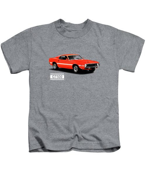 Ford Mustang Shelby Gt500 1969 Kids T-Shirt