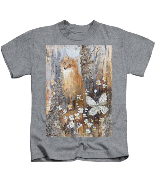 Fox And Butterfly Kids T-Shirt