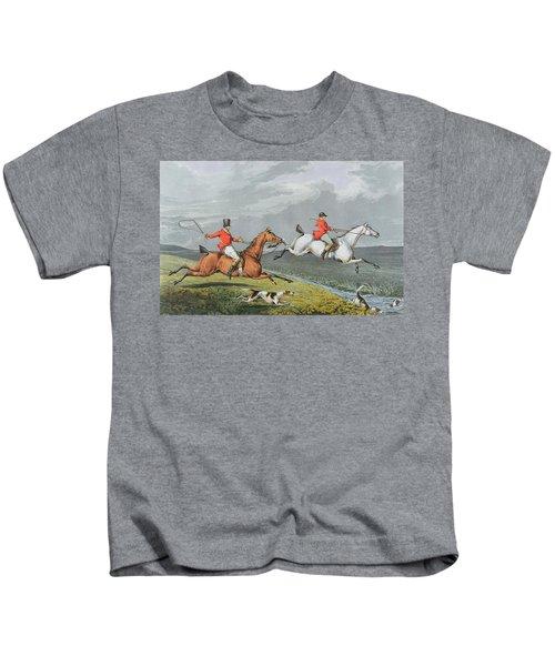 Fox Hunting - Full Cry Kids T-Shirt