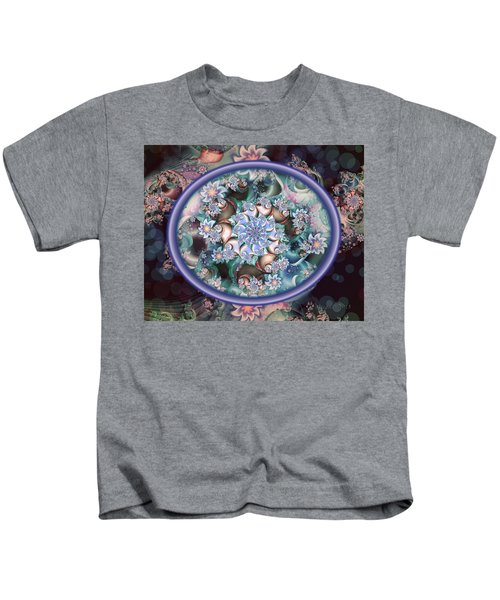 Fractal Embroidery Hoop Kids T-Shirt
