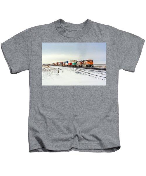 Freight Train Kids T-Shirt