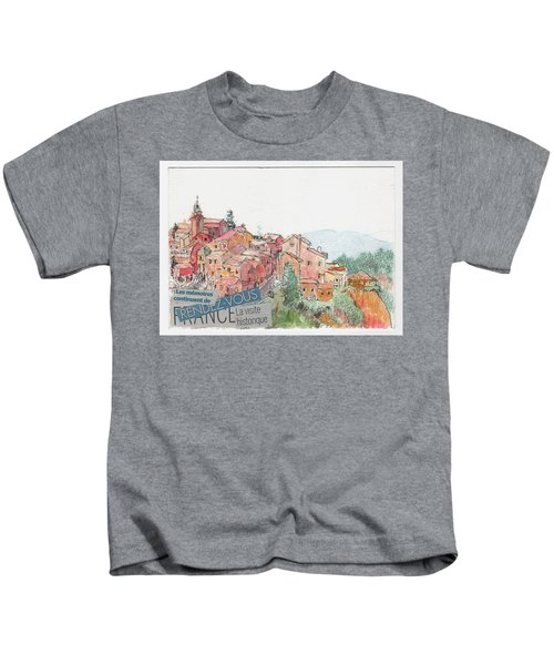French Hill Top Village Kids T-Shirt