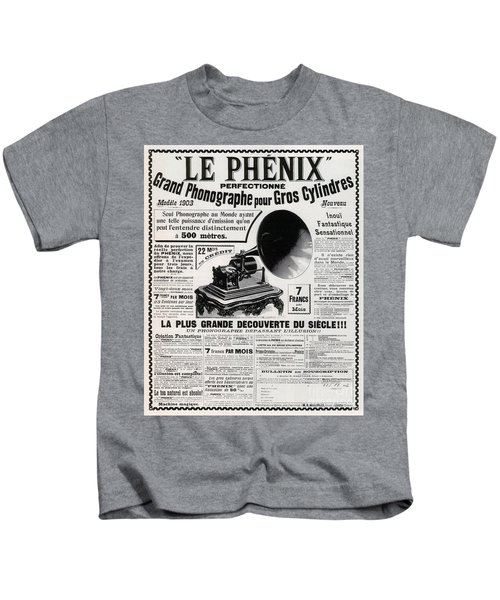 French Phonograph Advert, 1903 Kids T-Shirt