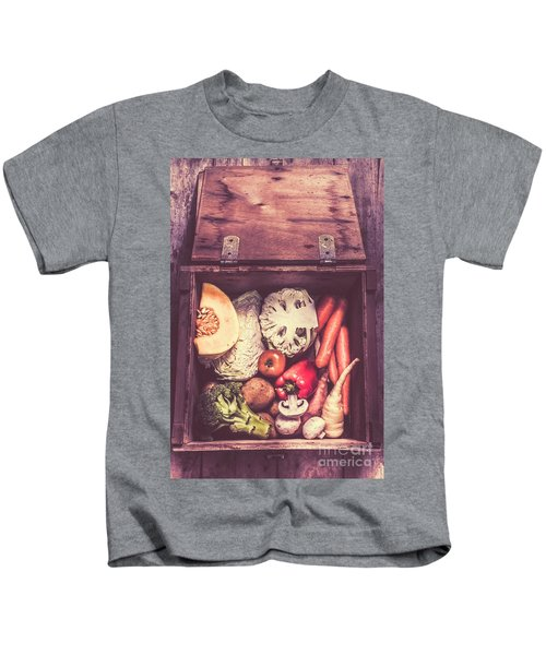 Fresh Vegetables In Wooden Box Kids T-Shirt