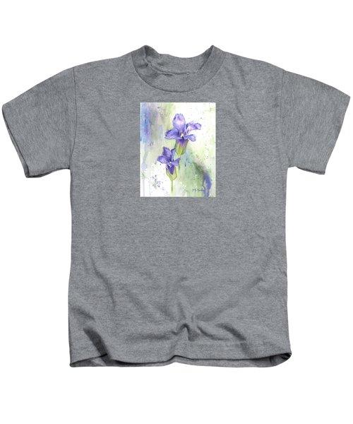 Fringed Gentian Kids T-Shirt