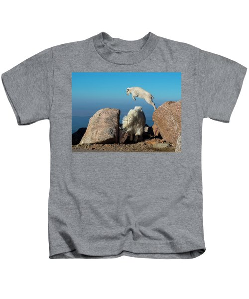 Leaping Baby Mountain Goat Kids T-Shirt
