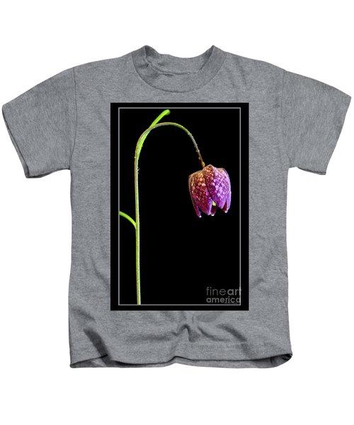 Fritillaria Meleagris, Snakes Head Fritillary Kids T-Shirt