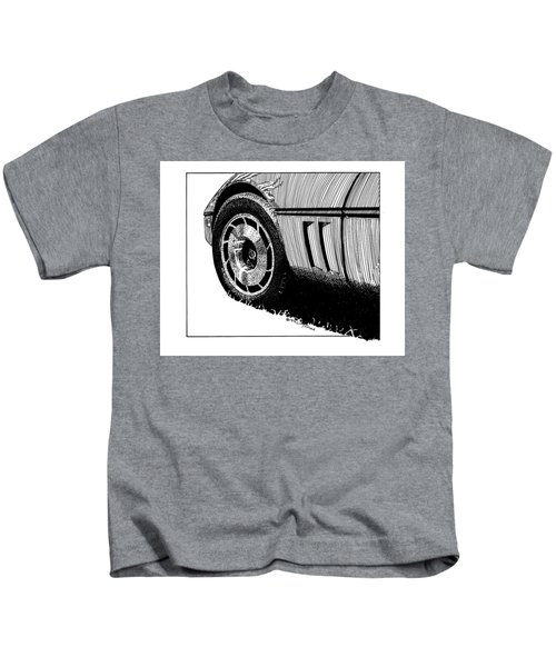 Front Wheel Study - Art By Bill Tomsa Kids T-Shirt
