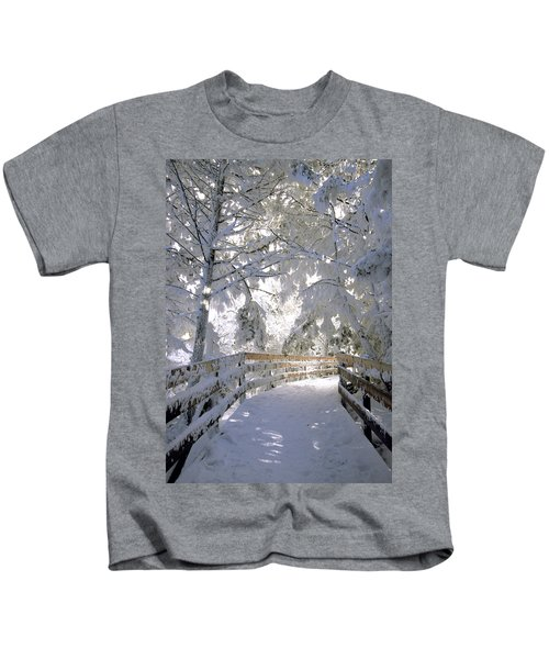 Frosty Boardwalk Kids T-Shirt