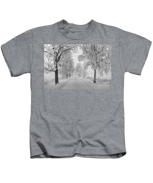 Frosty Winter Morning Kids T-Shirt