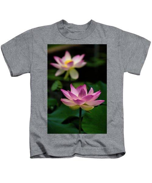 Full Blooming Dual Lotus Lilies Kids T-Shirt