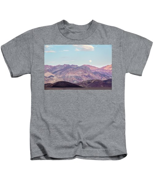 Full Moon Over Artists Palette Kids T-Shirt