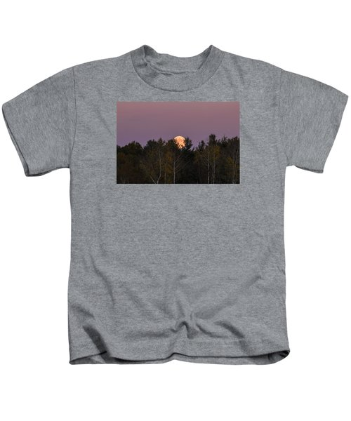 Full Moon Over Orchard Kids T-Shirt