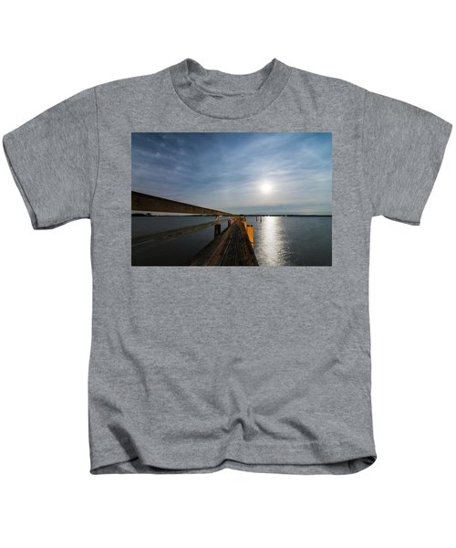 Full Moon Pier Kids T-Shirt