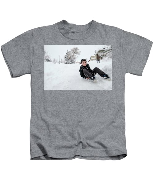 Fun On Snow-1 Kids T-Shirt