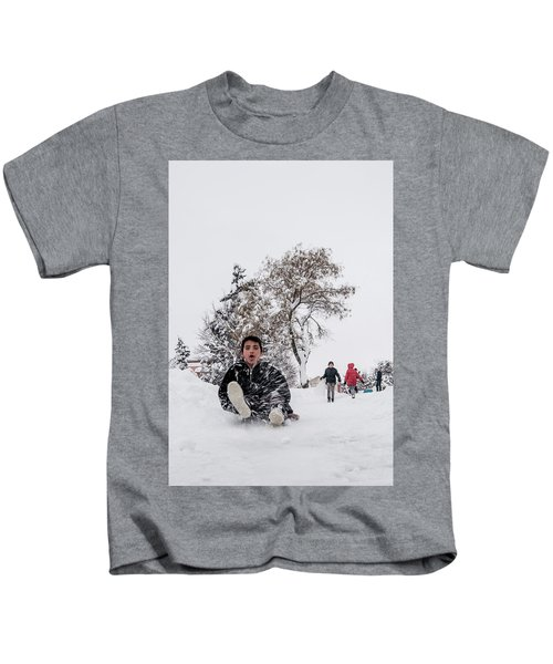 Fun On Snow-2 Kids T-Shirt