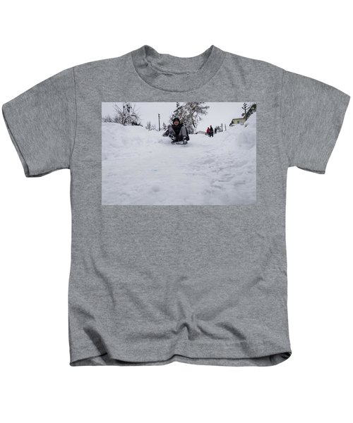 Fun On Snow-3 Kids T-Shirt