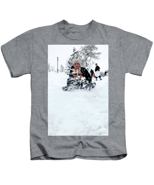 Fun On Snow-5 Kids T-Shirt