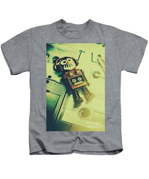 Funky Mixtape Robot Kids T-Shirt