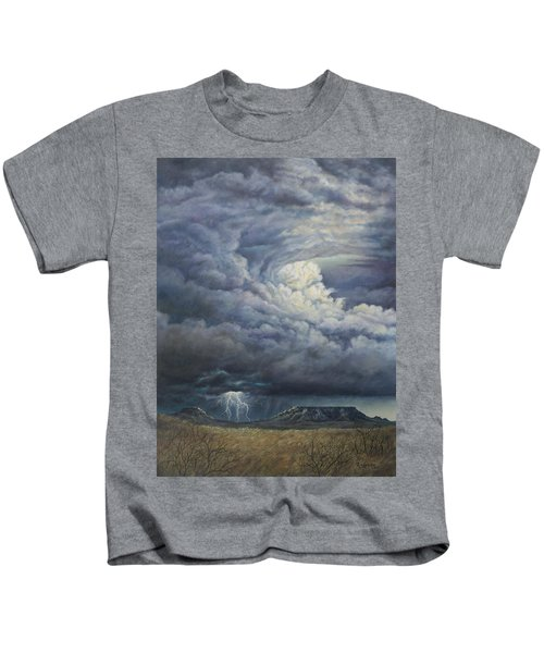 Fury Over Square Butte Kids T-Shirt