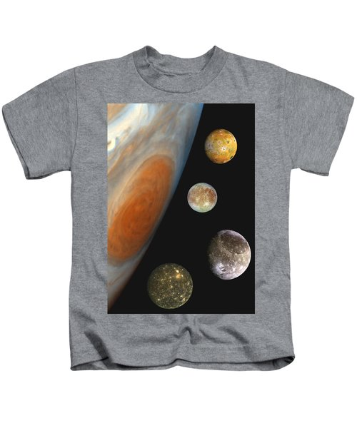 Galilean Moons Of Jupiter Kids T-Shirt