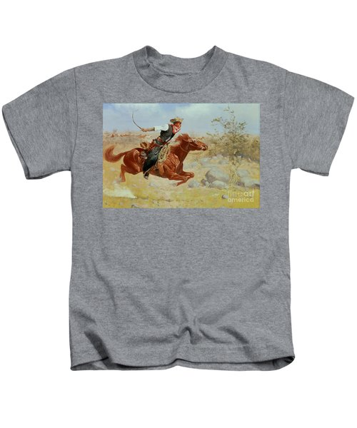 Galloping Horseman Kids T-Shirt