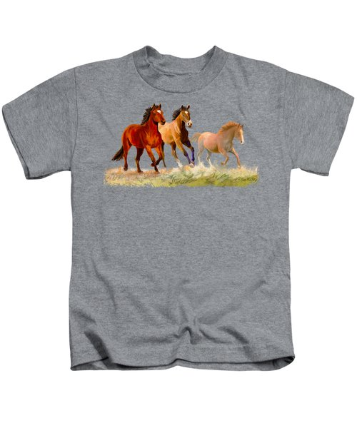 Galloping Horses Kids T-Shirt