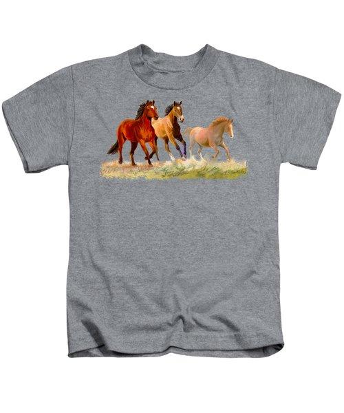Galloping Horses Kids T-Shirt