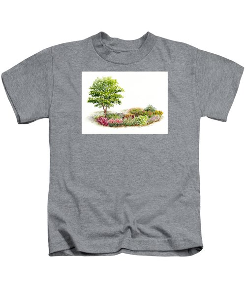Garden Fresh Watercolor Painting Kids T-Shirt