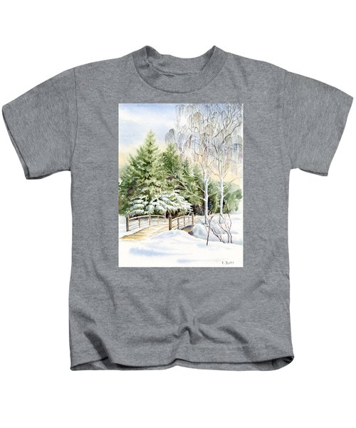 Garden Landscape Winter Kids T-Shirt