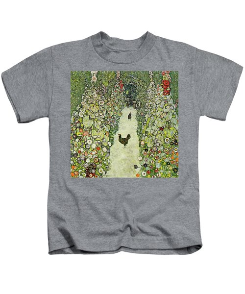 Garden With Chickens Kids T-Shirt