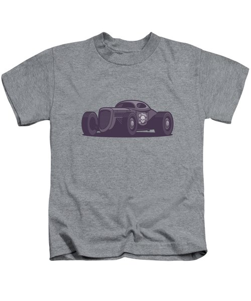 Gaz Gl1 Custom Vintage Hot Rod Classic Street Racer Car - Black Kids T-Shirt