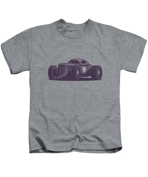 Gaz Gl1 Custom Vintage Hot Rod Classic Street Racer Car - Black Kids T-Shirt