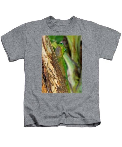 Gecko Up Close Kids T-Shirt