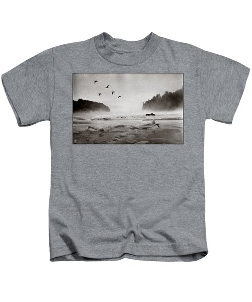 Geese Over Great Bay Kids T-Shirt