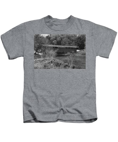 Geiger Covered Bridge B/w Kids T-Shirt