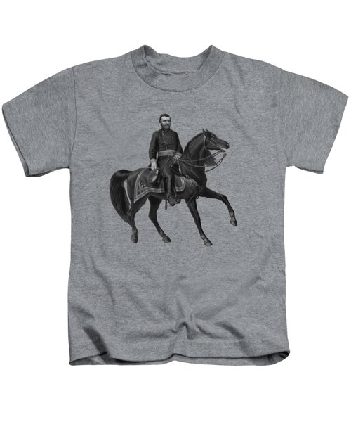 General Grant On Horseback  Kids T-Shirt