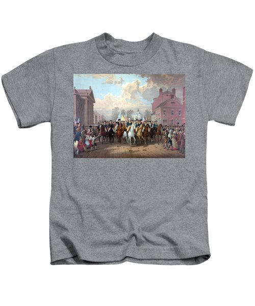 General Washington Enters New York Kids T-Shirt by War Is Hell Store