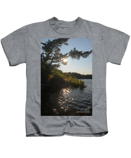 Georgian Bay Sunset Tree Kids T-Shirt