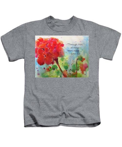 Geranium Praises Kids T-Shirt