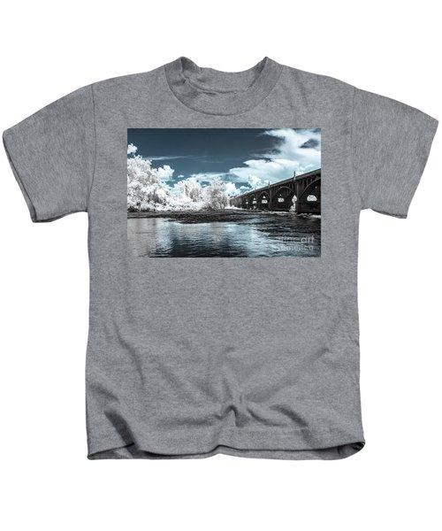 Gervais St. Bridge-infrared Kids T-Shirt