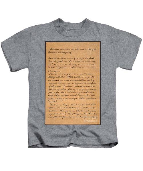Gettysburg Address Kids T-Shirt
